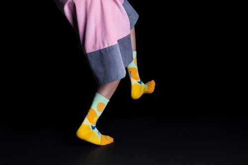 [NEW] Dear, Buncho: Buah/Fruit festive Reebok Gold | Crew Socks | Mens Socks | Womens Socks | Colorful Socks | Fun Socks | Unique Socks | Patterned Socks |