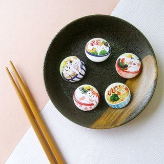 [five] eat goods badge series cat bowl canteen / creative small things / personal characteristics