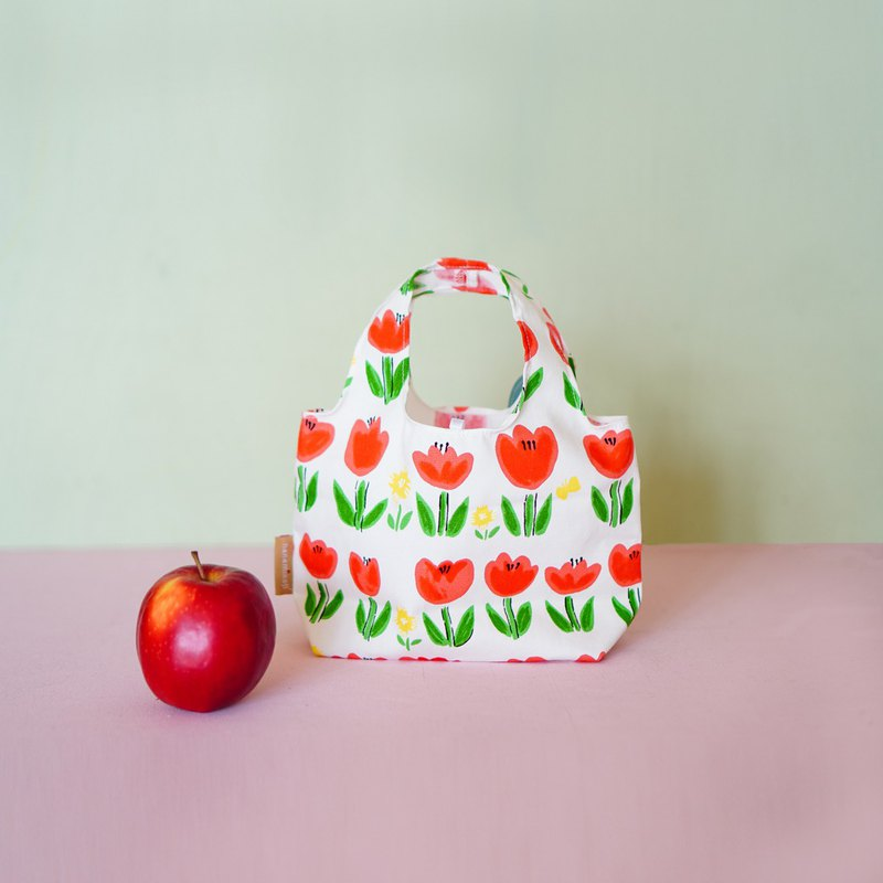 Day of Life | Breakfast storage bag S. Spring flower. Japanese flower cloth. Environmental protection. Gift. Limited. Valentine's Day