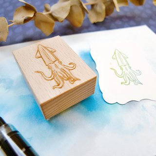 Squid Rubber Stamp