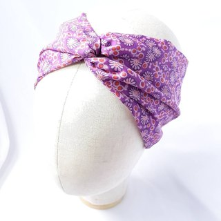 Purple Daisy Turban scarf hand-style hair band