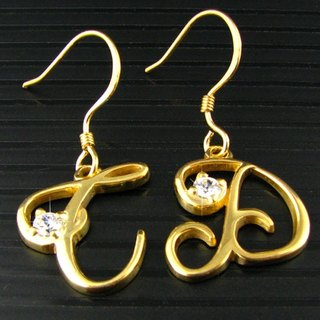 Customized .925 sterling silver jewelry EAR00003- name earrings (ear hook earrings)