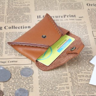JIMMY RACING handmade leather card holder change packet