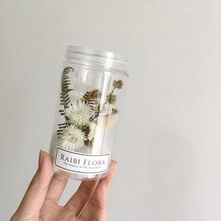 Self-contained texture dry flower pot / wedding small things