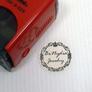 Lace chapter series - 2.4 cm - S524-R524 flip chapter back ink printing water back ink chapter wedding chapter