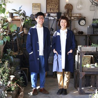 Loose cotton shop coat · unisex