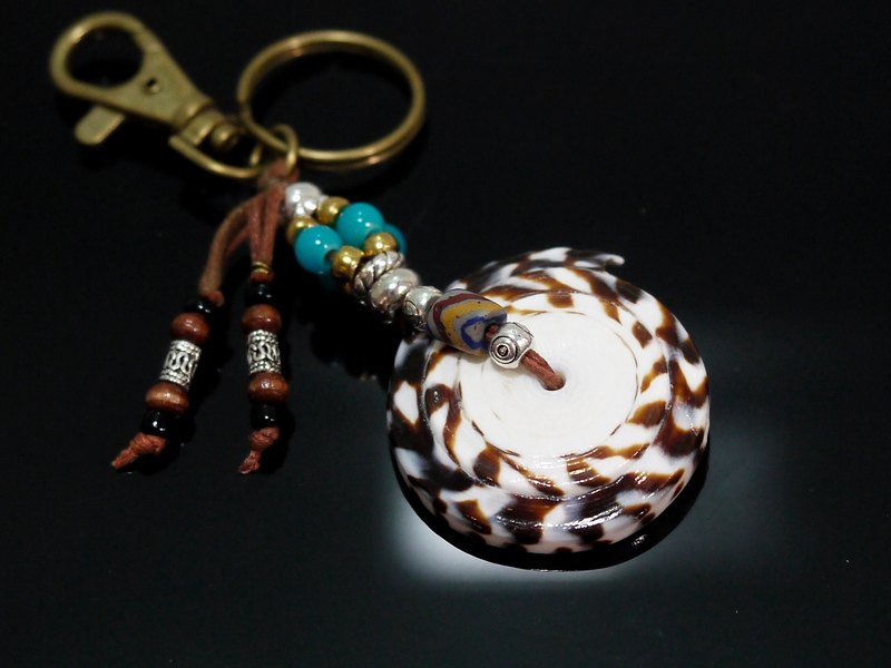 Chasing the moon snail key ring