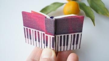 "To stencil dyeing miniature book ""Red Piano"" doll accessories ☆"