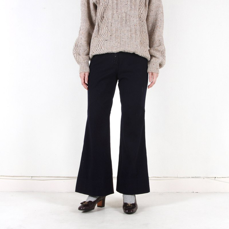 Vintage】 【egg plant neatly cut the vintage fur bell-bottoms