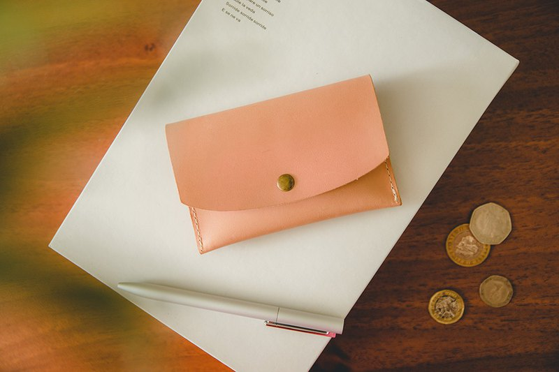 [Jeantopia] Zhiyin selected vegetable tanned leather and leather card holder coin purse | 8720206