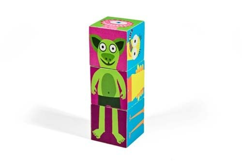[pukaca hand made educational toys] paper blocks series - Little Monsters I