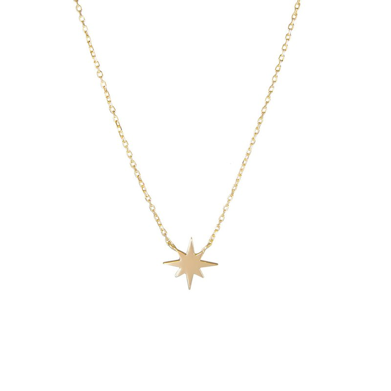 Starburst Silver 18K Gold Plated Necklace