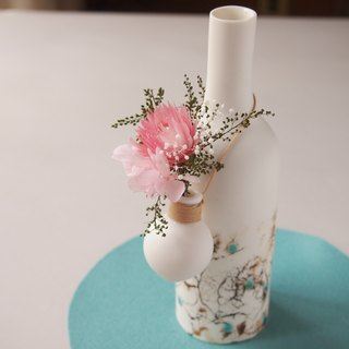 Porcelain bottle shaped hanging flower B(with blizzard flower)