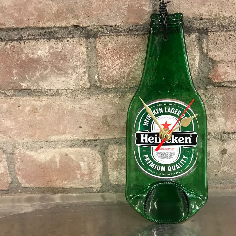 "Heineken small wall clock / blessing by ""clock"""