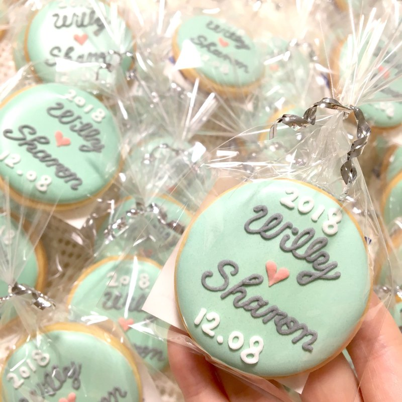 Customized base text wedding cookies 20 pieces