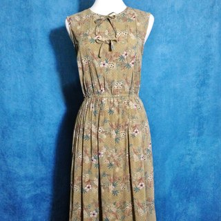 Ping pong ancient [ancient dress / Japanese pattern bowknot sleeveless dress] foreign bring back VINTAGE