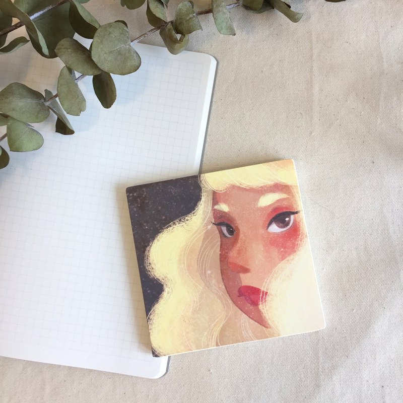 Girl / ceramic coaster