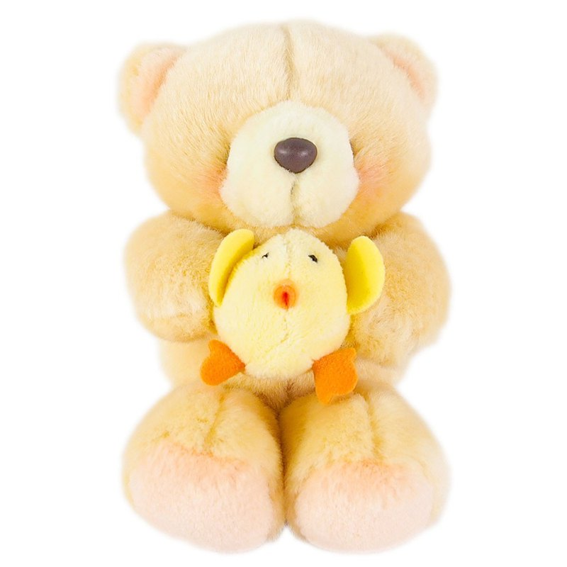 4.5吋Chicken mate fluffy bear [Hallmark-ForeverFriends fluff-dressing series]