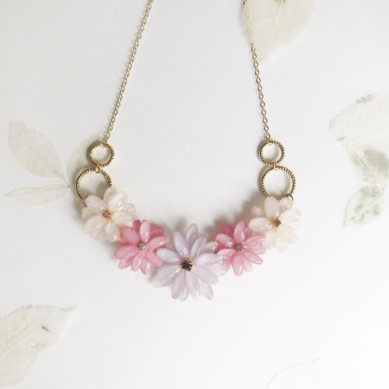 Flower jewellery Real flower Leucanthemum Necklace
