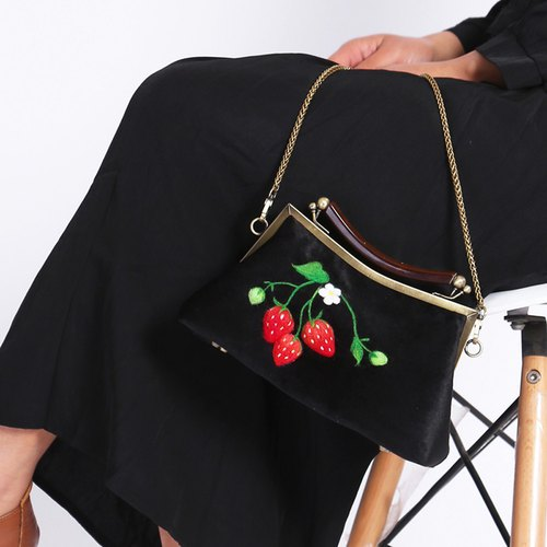 Sui people original new manual gold package diagonal bag female shoulder bag retro Sen Department of small fresh garden package