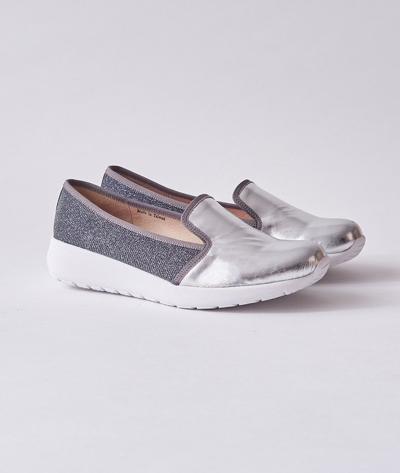 Zero code-[European and American leisure] cowhide super lightweight thick bottom Lok Fu shoes _ starry sky silver