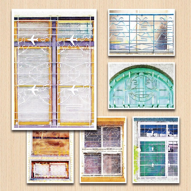 Old House Yan – Mt. Fuji Window Flower Postcard Set