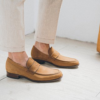 Classic double stitch line Shifufu shoes desert brown