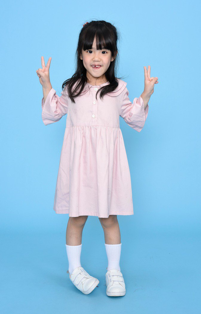 Children's wear large collar dress 123863N