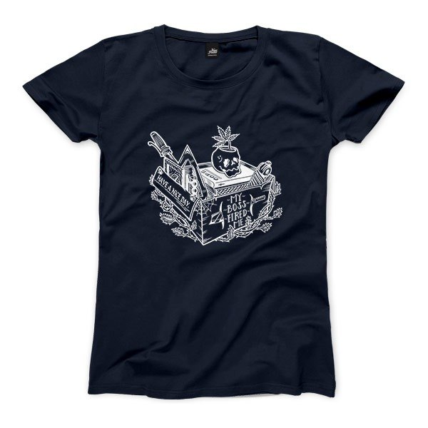 Not a nice day - dark blue - Women's T-Shirt