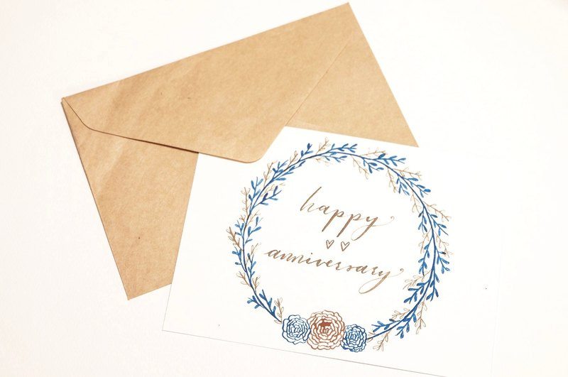Western calligraphy greeting card