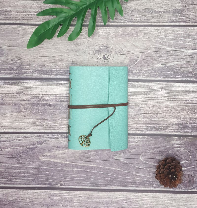 Mint Green Journal with Brownish Stitched and Velvet Cord
