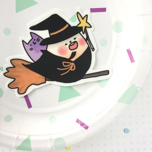 Xiongye waterproof sticker (white) Halloween witch