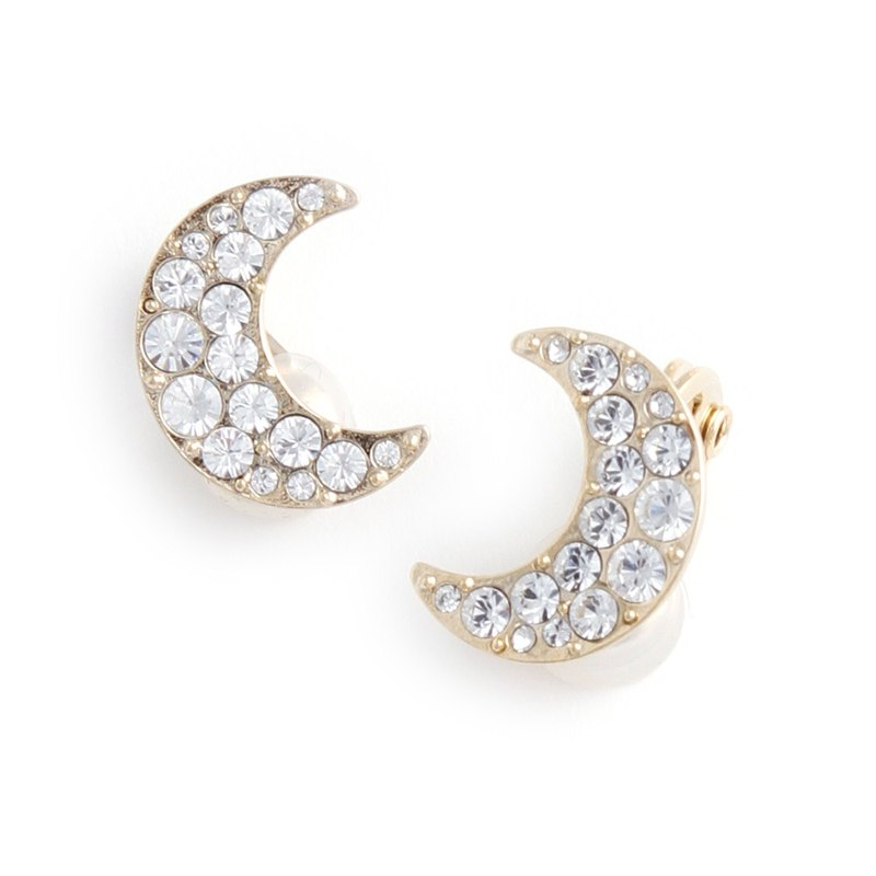 JewCas Air Earrings Series Moon Crystal Air Ear Clip _JC2512