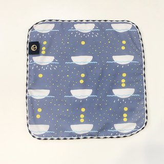Towel Handkerchief Moon Palace Print (Starlight Blue)