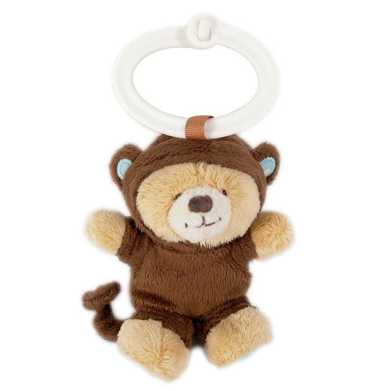 3.5吋/猴子熊鑰匙圈【Hallmark-ForeverFriends絨毛-鑰匙圈系列】