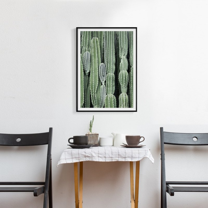 Bushy fleshy small fresh green II - plant painting / cactus / living room painting / Nordic wind painting / copy painting