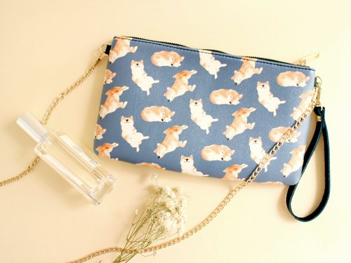 Kelly Shiba Inu 2 Way Purse-Crossbody/ Clutch