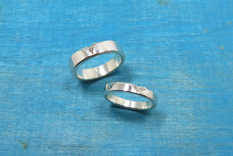 Customized Beveled Love Heart Ring [Companion]