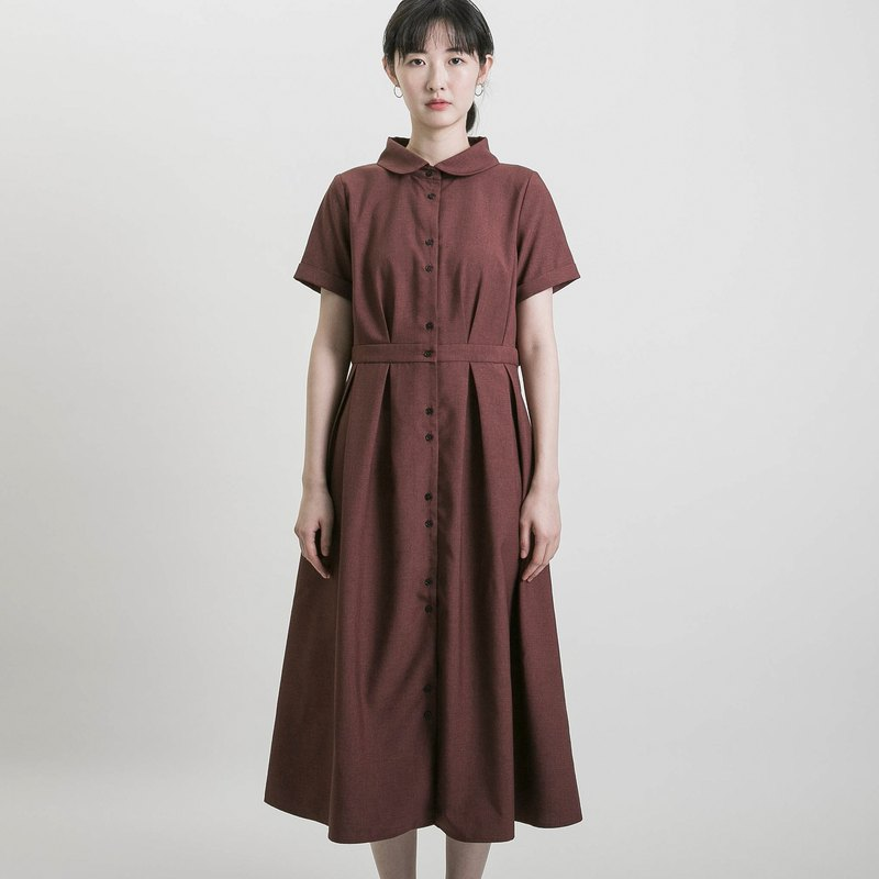Romance_ such as woven romantic dress _9SF105_ brick red