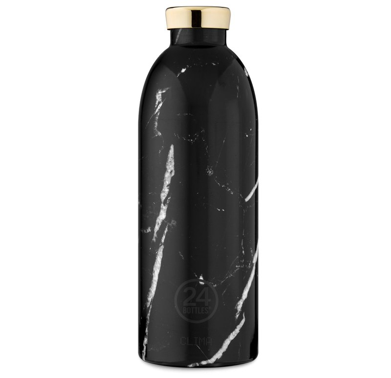 Italy 24Bottles [CLIMA hot and cold insulation series] black enamel marble - 850ml stainless steel bottle