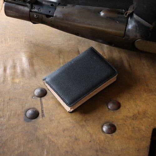 日本製造 牛皮 名片夾 名片盒 黑色 Weinheimer made in JAPAN handmade leather card case