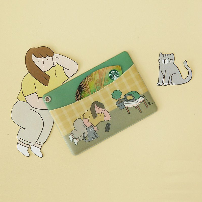 Indigo Women's Daily Illustrator Ticket Clip - 05 House Female and Cat, IDG78981