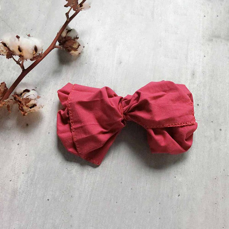 Fresh rose powder giant butterfly hair band - the whole strip can be taken apart