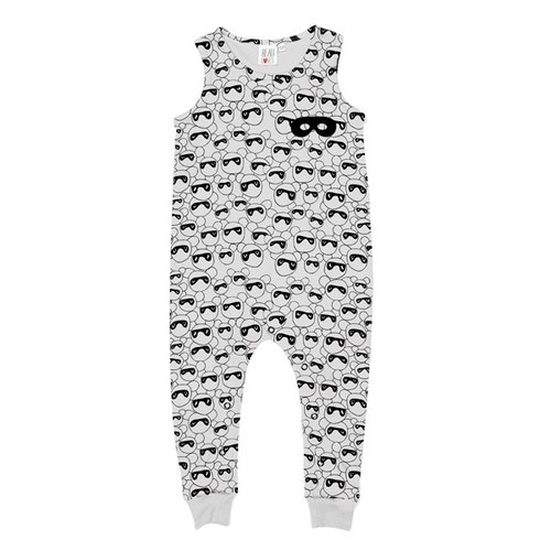 2016 Spring Beau Loves full version Masked Bears gray vest jumpsuit (Sleeveless Romper Suit Grey Dove Masked Bears)