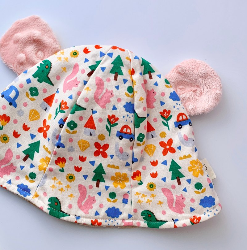 Forest Treasure Hunter Bear Hat Visor Baby Hat Fisherman Hat