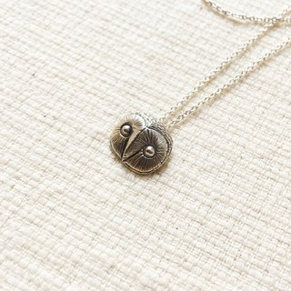 Mini collection little owl 鸮 鸮 sterling silver pendant