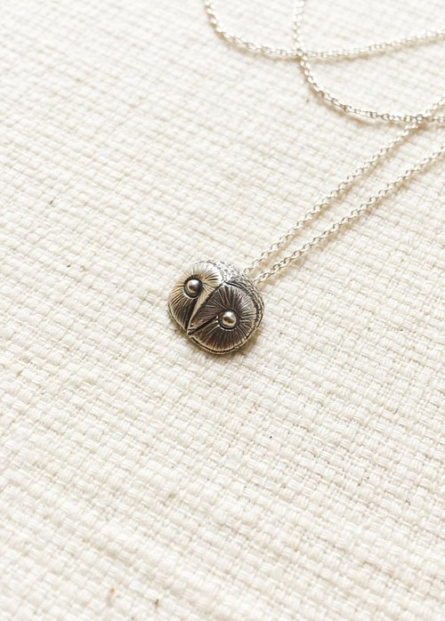 [Petite Fille Handmade Silver] mini collection Little Owl Eagle Owl Sterling Silver Pendant
