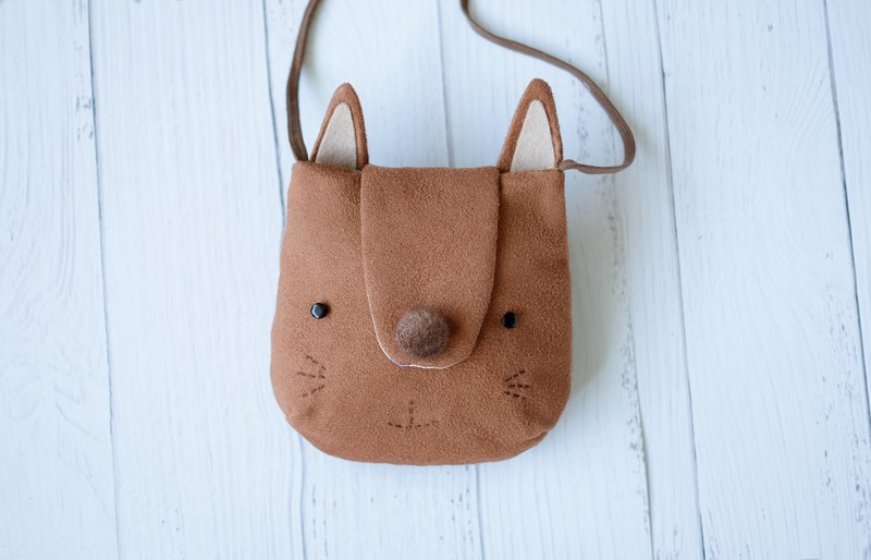 Camel fox shape cross-body pouch