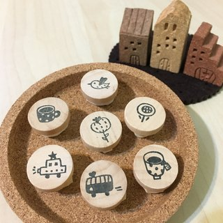*Miss L handmade eraser stamp* Mini Stamps / choose 4 of the patterns