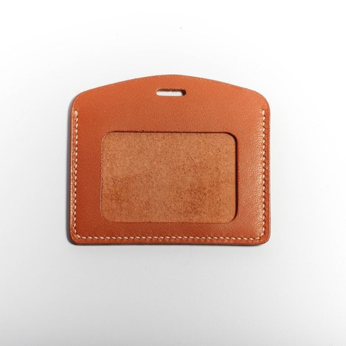 Egawa [Hands] documents folder, travel card sets (reddish brown straight) pure hand-stitched leather